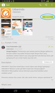 Tampilan Aplikasi Pencarian Properti dan Rumah