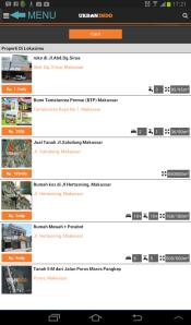 Menu Aplikasi Pencarian Rumah dan Properti terbaik di Indonesia