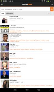 Tampilan Aplikasi Pencarian Properti dan Rumah Terbaik Indonesia