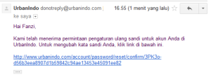Email dari UrbanIndo